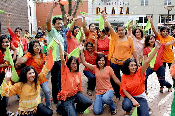 Bollywood flash mob